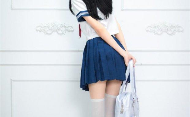 喵糖映画 VOL.012 蓝白水手服 浴缸里的白丝JK no胖次[44P-378M]