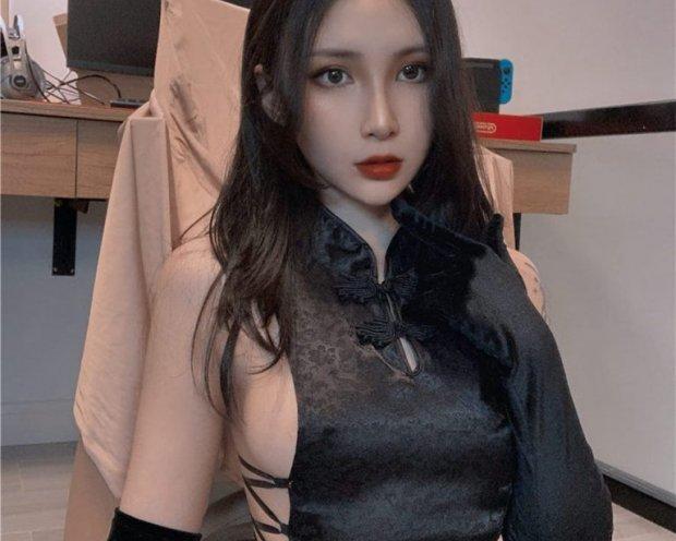 vams子-黑色旗袍[30P-188M]