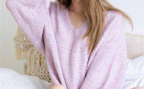 黑川-紫色毛衣[14P-134M]