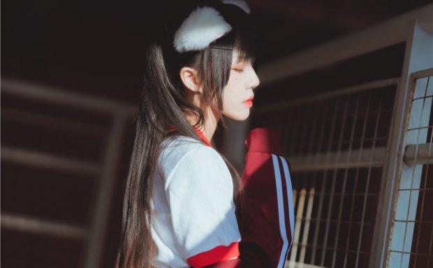 桜桃喵-红色体操服[44P-538M]