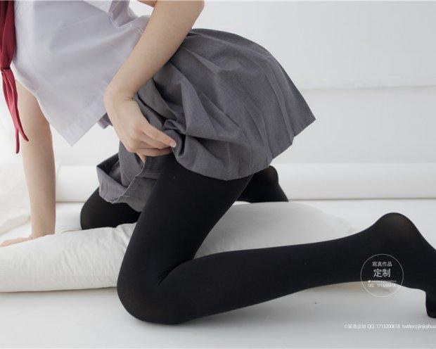 [紧急企划]G-002 小奶糕Milky JK制服黑裤袜[60P-594M]